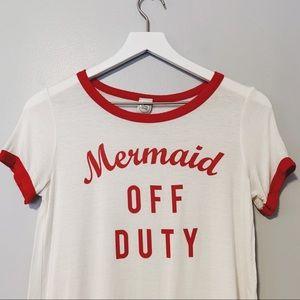 Mermaid Off Duty Tee x Paper Crane
